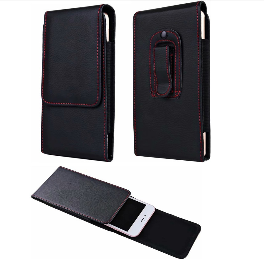 Universal Smartphone Tasche Gürtel Clip Pouch Holster Leder Fall Für Samsung S10 S10e S9 S8 S7 S6 Hinweis 9 8 5 4 für iPhone/Huawei