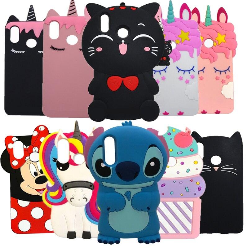 3D lindo de dibujos animados Minnie gato Magdalena casos para Huawei P20 Lite funda de silicona para Huawei P20 Pro P 20 cubierta de goma nova 3e Coque