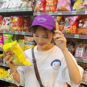 Fashion Streetwear Hip Hop Caps For Women Summer Korean Ulzzang Harajuku Letter Purple Snapback Hats Women Casual Baseball Cap