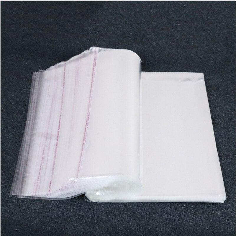¡Oferta! 1000 unids/lote 25*34cm-30*40cm bolsas de plástico transparente sellado autoadhesivo bolsas de embalaje para suministros diarios puede personalizar