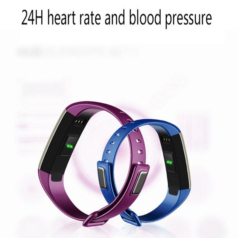 Superventas pulsera inteligente Monitor de ritmo cardíaco Bluetooth 4,0 podómetro rastreador de Fitness para Android IOS PK mi band 2