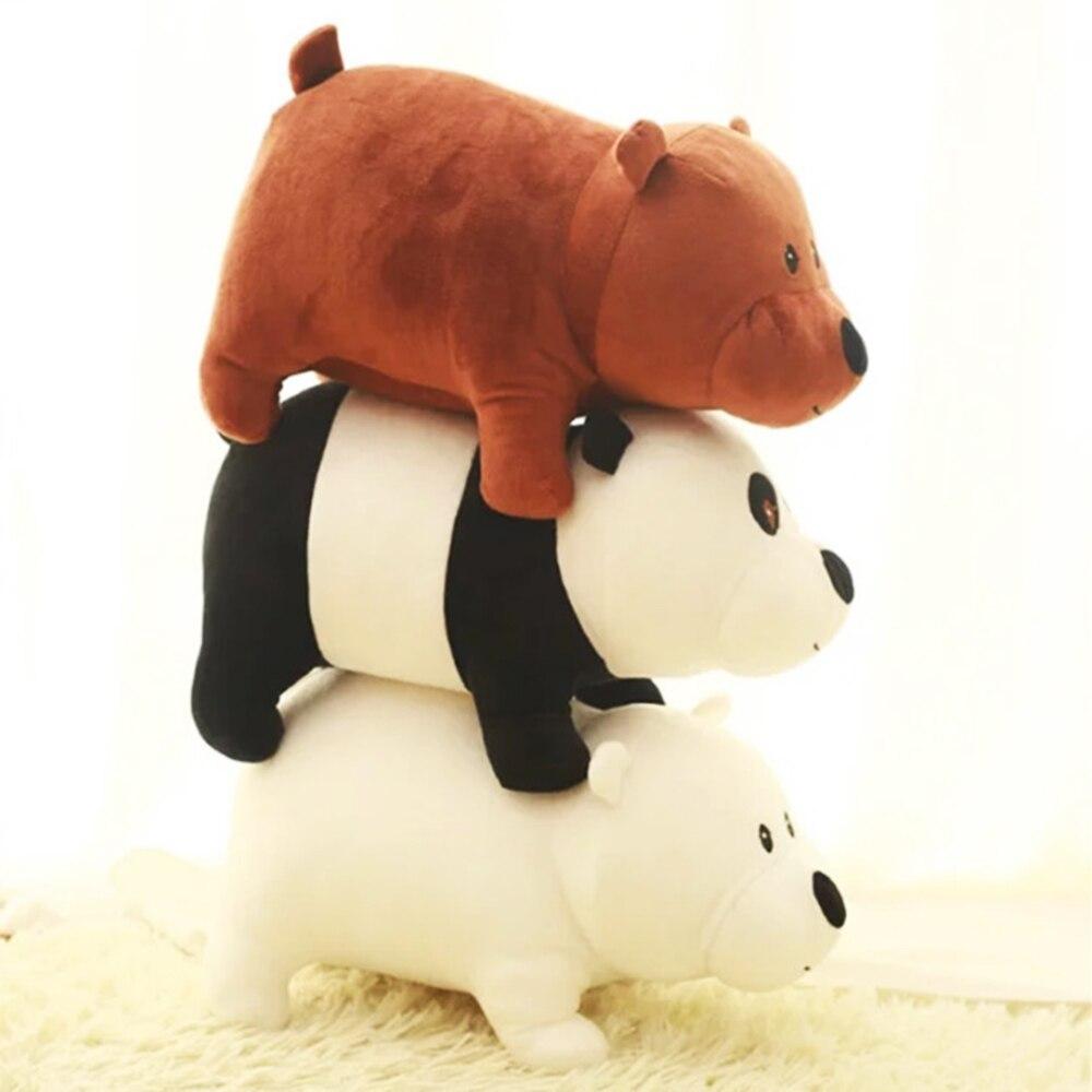 3 шт. 25 см милый мультяшный медведь гризли медведь панда мягкая плюшевая игрушка кукла рождественский подарок на день рождения для ребенка