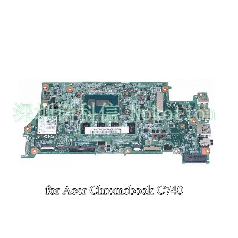 NOKOTION NBEF211003 DA7HNMB1AD0 Para acer C720 Chromebook laptop motherboard CPU onboard memória 4G Celeron 3205U 11 polegadas