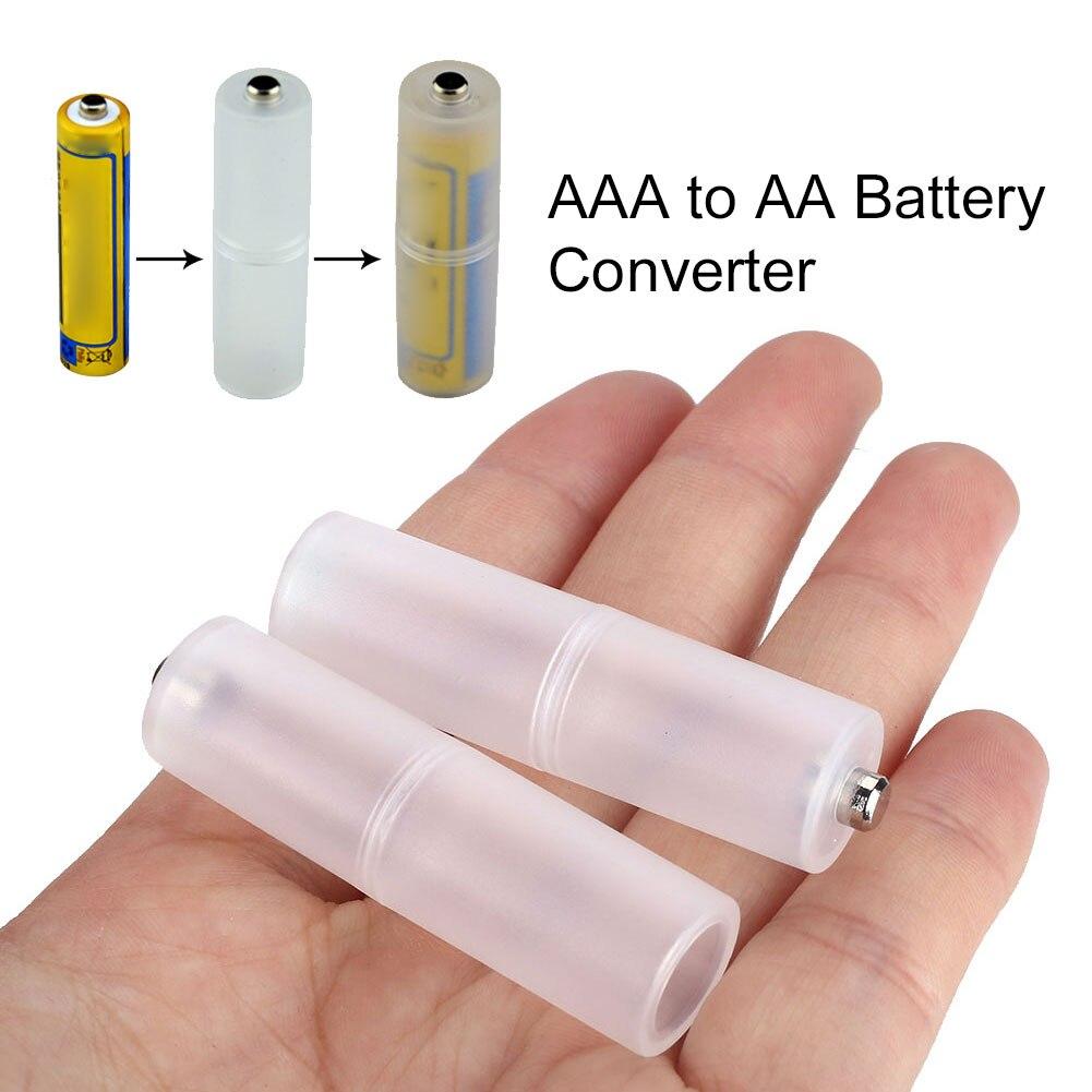 2 uds AAA a AA/AA a C tamaño de la batería para el hogar convertidor de la casa Mini adaptador de batería de viaje soportes de batería de gran fuerza