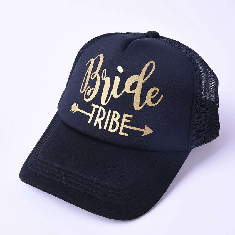 MYZOPER Fashion New 2019 BRIDE TRIBE Letter Mesh Cap Baseball Cap Casual Tide Adjustable Summer Hat Adult Cap