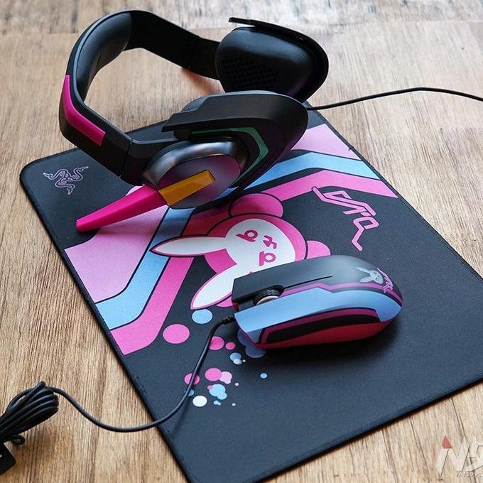 2018 Razer D Va MEKA analógico auriculares para juegos ver en Dva de ABYSSUS GOLIATHUS Cosplay Prop