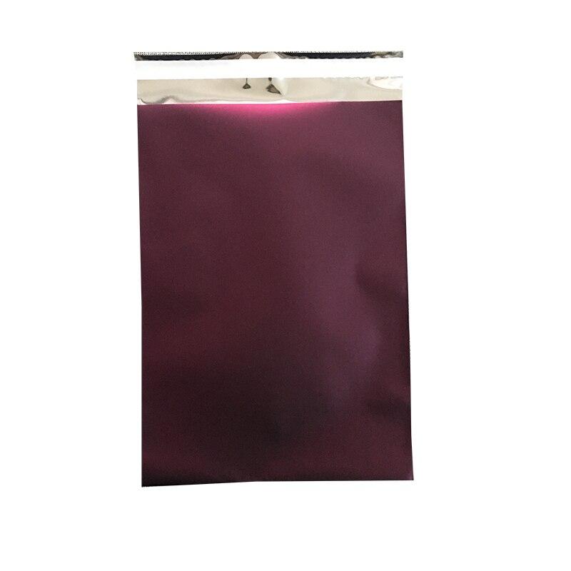 Frete grátis borgonha matte poli mailer ouro 18x25 cm, 7x10 roxo escuro ouro fosco poli mailer sacos
