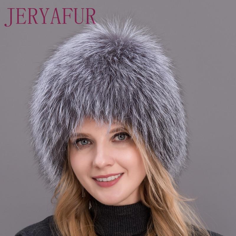 قبعة شتوية من فرو الثعلب الفضي الطبيعي للنساء ، 100% ، قبعة محبوكة ، قبعة من فرو الثعلب ، آذان أنثوية ، دافئة ، عرض خاص