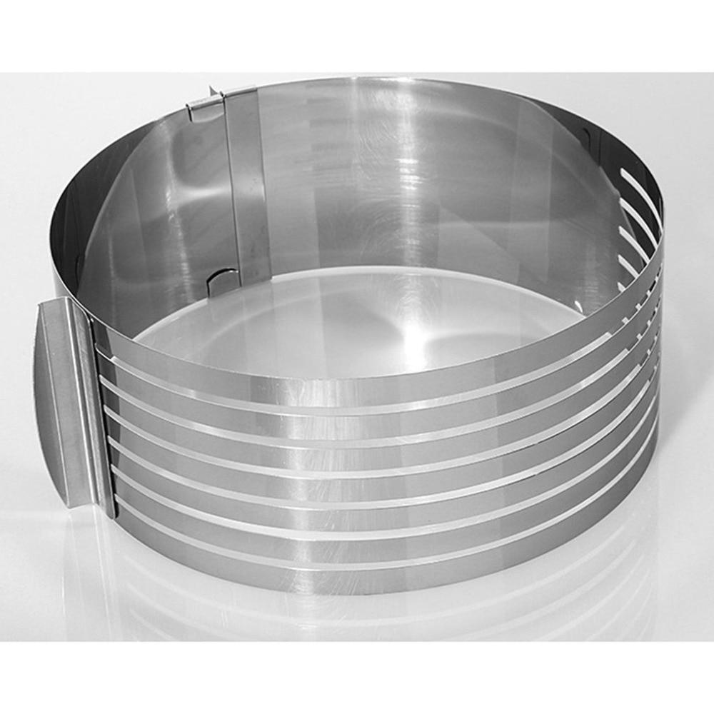 mold Cake Ring Cake Slicer Stainless Steel Cake Mold Adjustable Retractable Circular Cake Mold Layered Baking Tool Kit