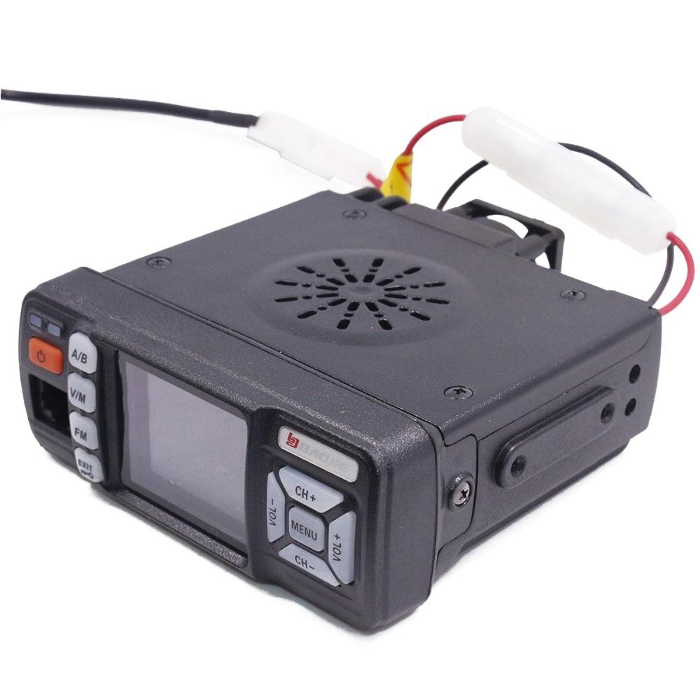 Baojie BJ-318 Mini Mobile Radio Car 20KM long range Walkie Talkie 25W Dual Band VHF/UHF Station upgrade of bj-218 enlarge