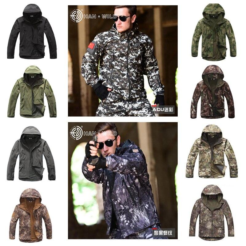 V 4.0 lurker softshell jaqueta masculina tático ao ar livre impermeável à prova de vento camuflagem caça roupas