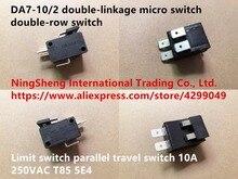 Micro-interrupteur à double liaison   100%, interrupteur de limite à double rangée, interrupteur de course parallèle 10A 250VAC T85 5E4, Original, nouveau