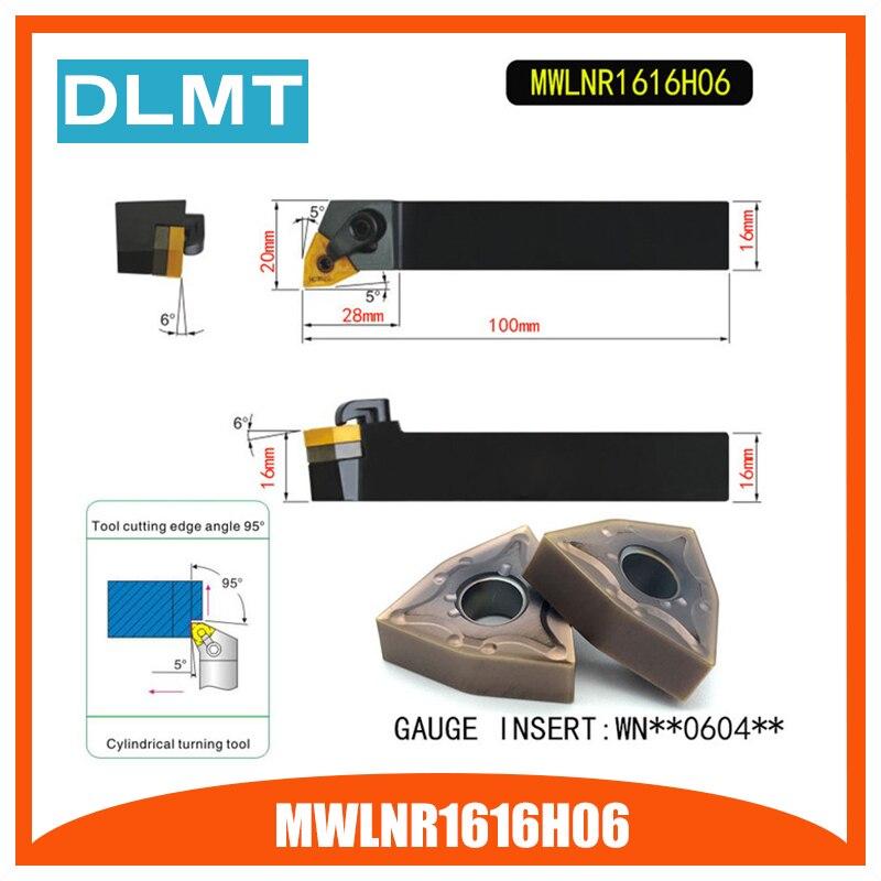 MWLNR1616H06 95 градусов Внешний поворотный держатель инструмента для WNMG060404 WNMG060408 используется на токарном станке с ЧПУ