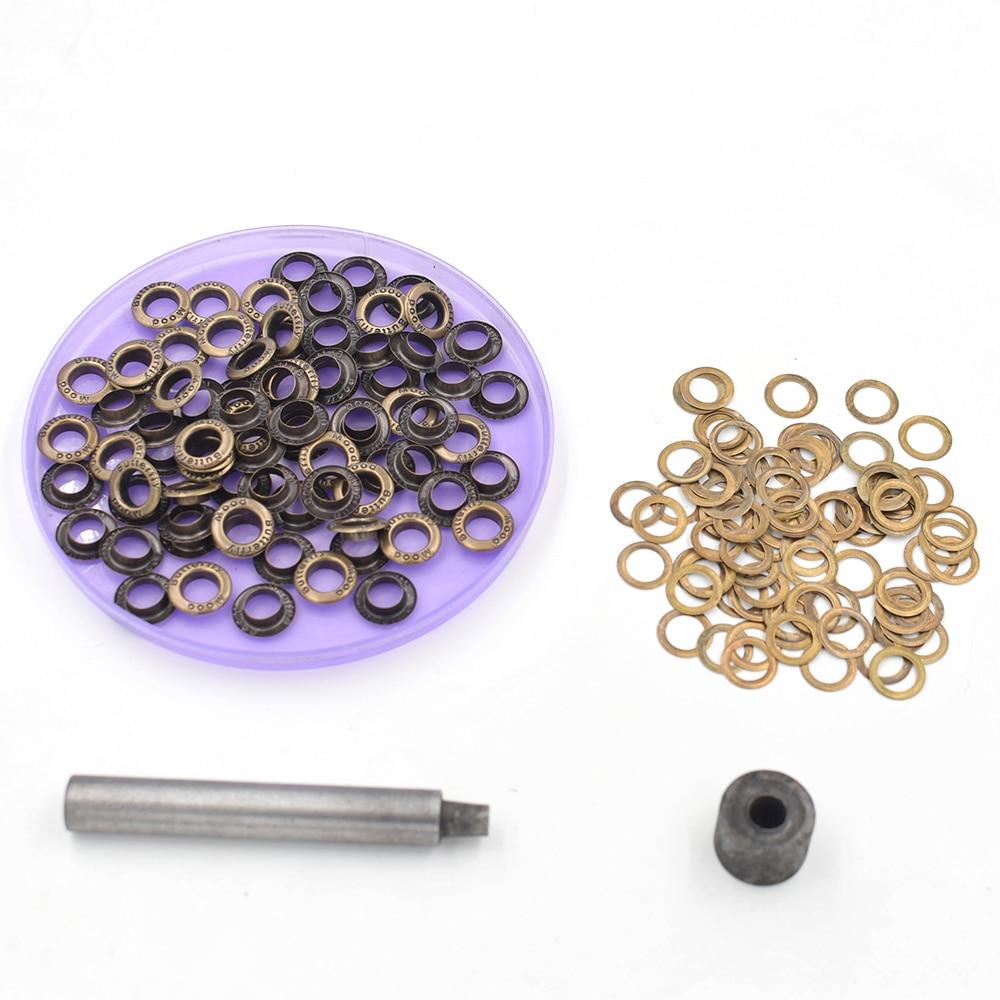(100 peças/lote) diâmetro interno 8mm metal ilhós shoebox buracos. Orifícios de ilhós de metal de bronze. Botões. Snap