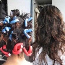 10PCS Curler Makers Soft Foam Bendy Twist Curls DIY Styling Hair Rollers F710