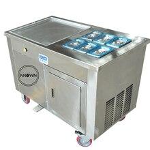 Machine de petit pain de crème glacée de friture de congélateur de vitesse supérieure de conception de 2020 ans avec le diamètre 450mm