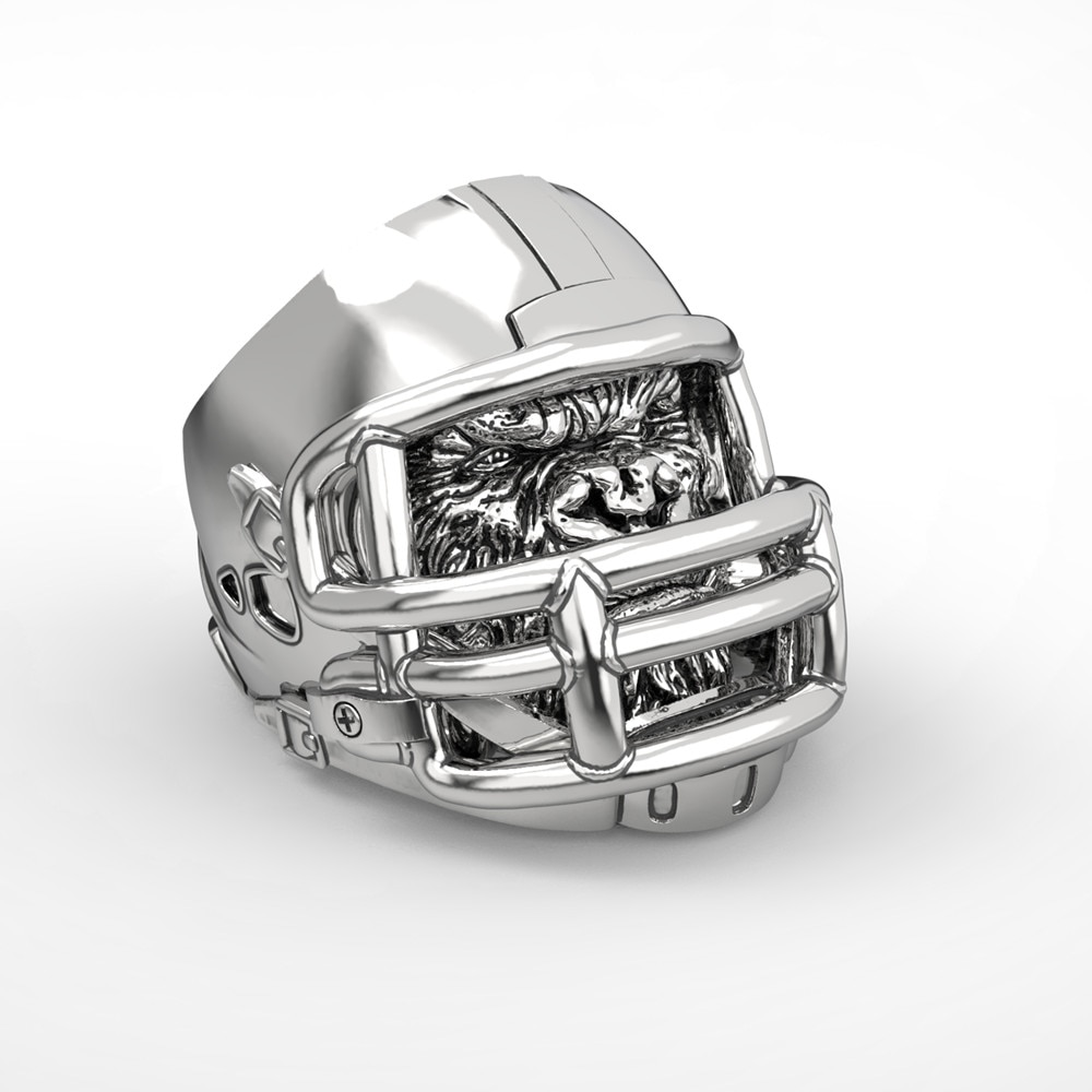 316L Acero inoxidable Gorilla anillo de béisbol fútbol americano casco niños anillos