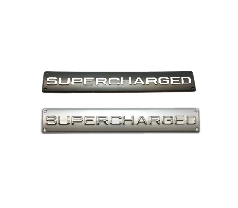 1pcxMetal Aluminum Supercharged Badge Emblem Sticker For Car