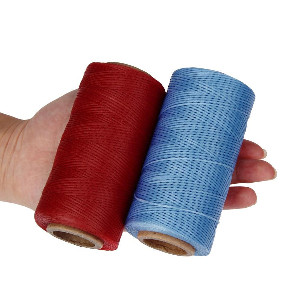 260 metros de hilo encerado para costura de cuero, 1mm 150D cuerda Dacron hilo de cuero herramienta de costura de Material DIY