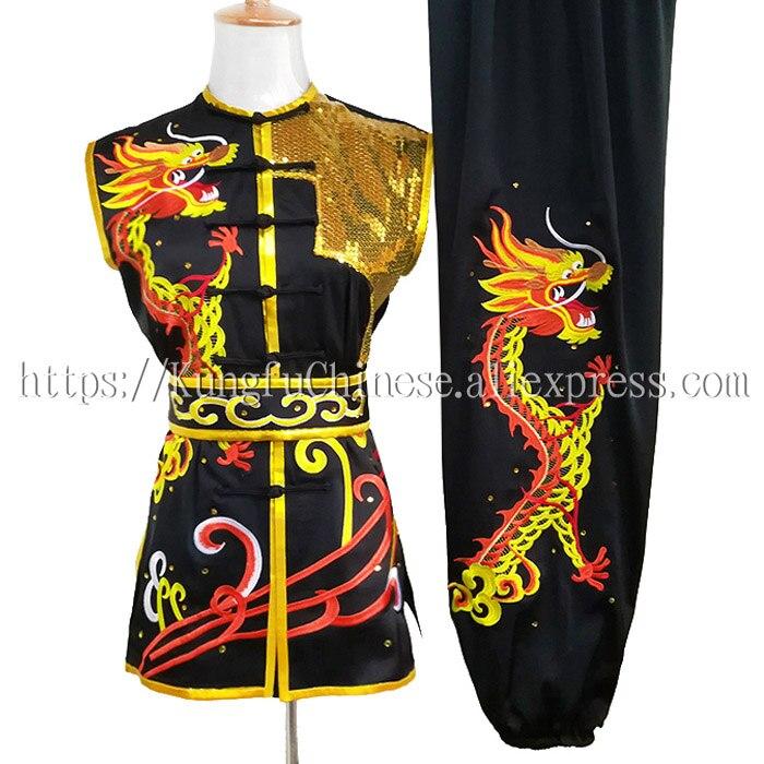 Roupas de kungfu chinês uniforme wushu artes marciais terno taolu vestuário nanquan boxe demo para homens feminino menino menina crianças