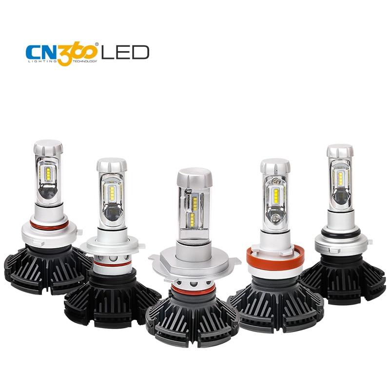 CN360 2 uds para 2nd GEN ¿Es Chip coche H4 H7 H8 H9 H11 9005 HB3 9006 HB4 LED Kit de conversión de faros Hi-Lo haz de luz 6000LM