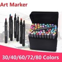 Alcohol Marker Pen solventborne double slider mark pen Set No.3203