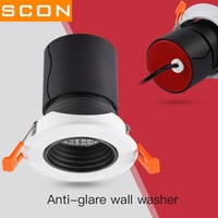 SCON 7W/12W COB Recessed ceiling downlight open 7.5cm Hotel indoor wall washing lamp 4000k natural light Ra>93 Spotlight