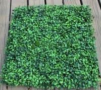 50cmx50cm artificial plastic boxwood grass matsheet for garden and home decoration wedding props