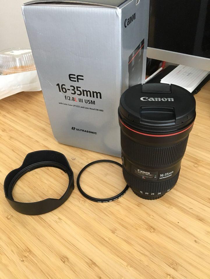 Canon EF 16-35 مللي متر f/2.8L III USM عدسة زوم فائقة الاتساع لـ 1DX II 5DS 5DSR 5D IV 6D II 7D II 80D 77D 800D