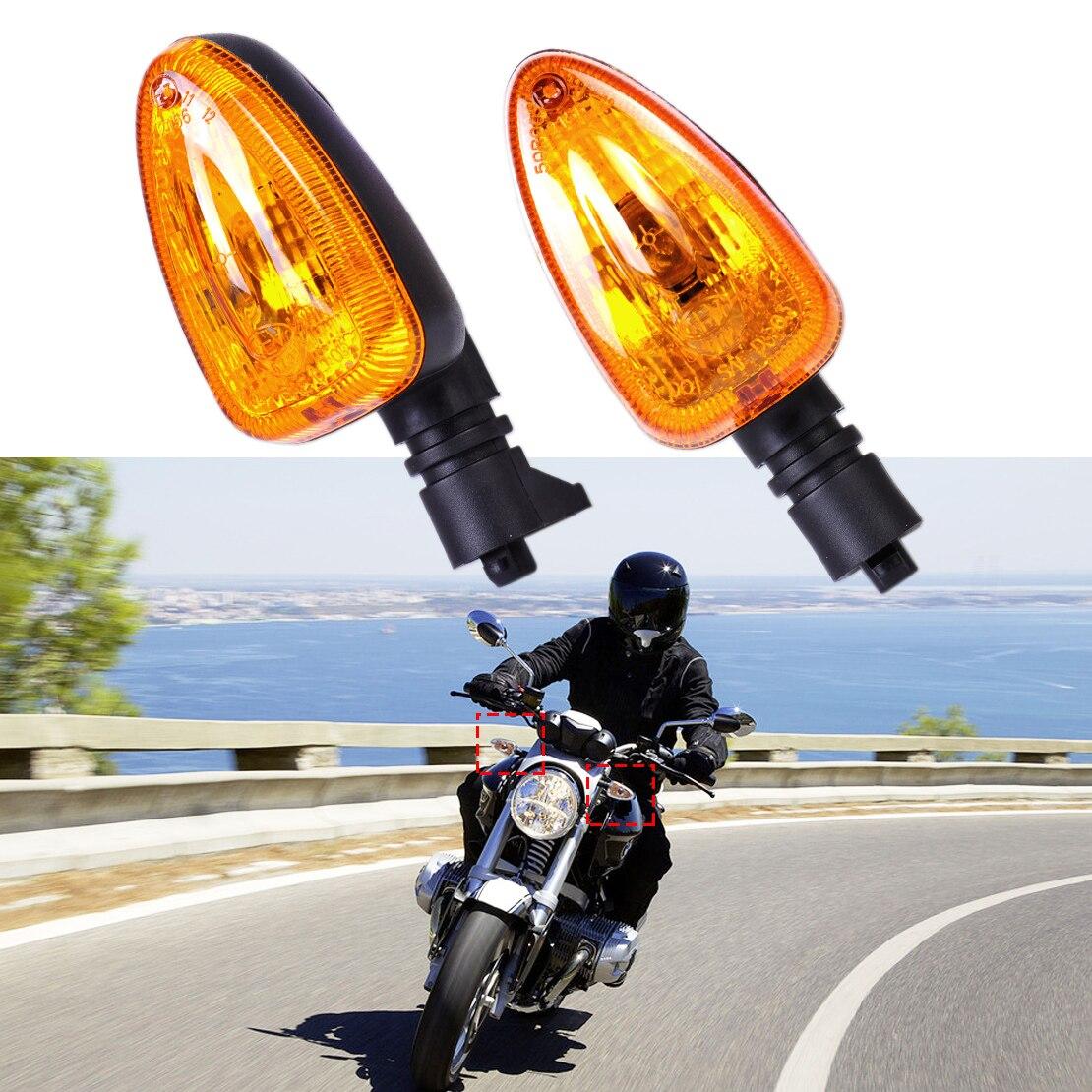 Motorcycle 1 Pair Yellow Turn Signal Indicator Light Lamp Fit for BMW F650GS F800S F800ST R1200R R1200GS G450X K1300S K1200R