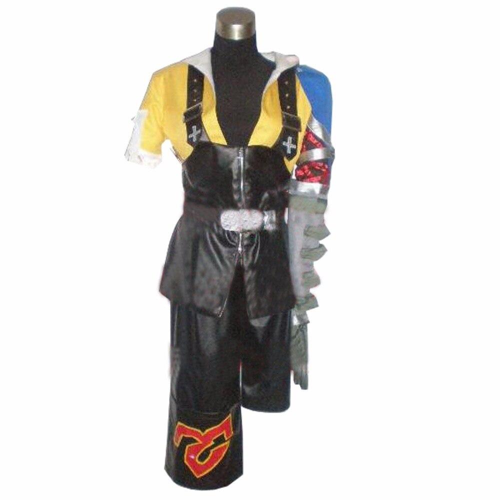 2017 personalizado Anime Cosplay traje Final Fantasy X 10 Tidus Cosplay traje