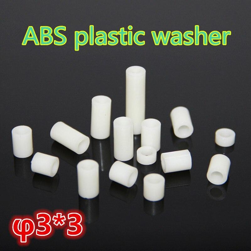 1000 шт m3 * 3 ABS пластиковые шайбы, прокладки колонны Буш подходит ABS трубы ABS Круглый противостояние