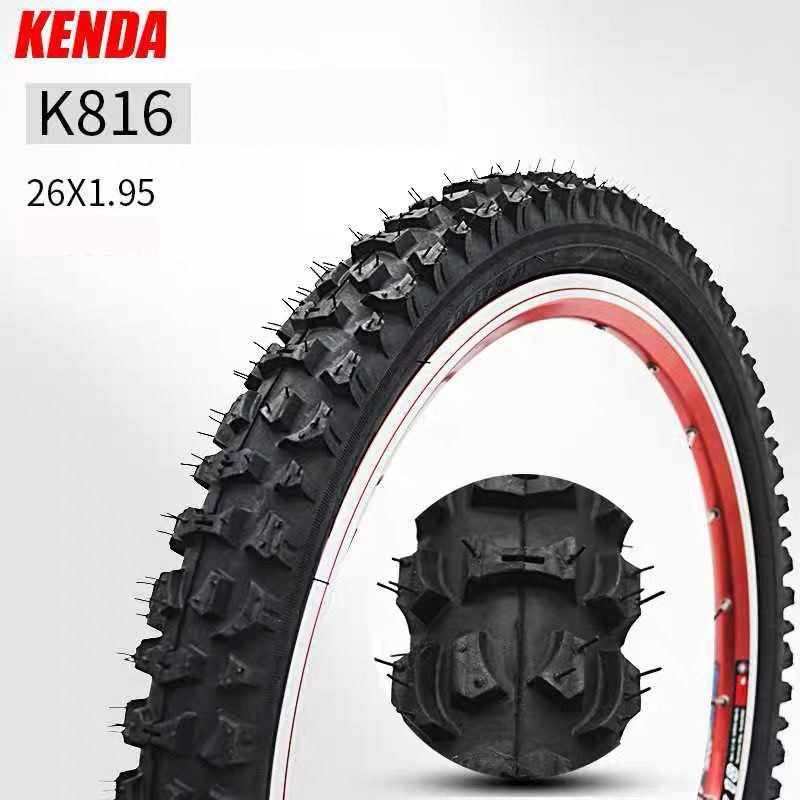 Neumático de bicicleta KENDA 26x1,95 K816 MTB, neumáticos de bicicleta de carretera de montaña, neumáticos de bicicleta de 1,95 26 pulgadas de ancho, neumáticos de tubo interno