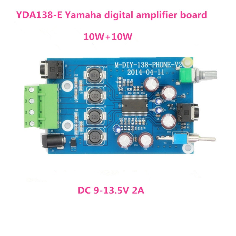 Envío gratis 10W + 10W 2,0 Channel YDA138-E auriculares placa amplificadora digital Beyond TA2021 TA2020
