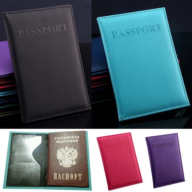Multi-função caso do cartão do passaporte do curso do plutônio bainha américa id cartão saco de documentos capas protetoras titular do cartão de crédito