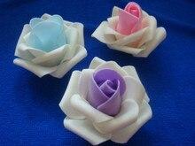 700pcs X 6cm Two Tone Foam Rose Heads  Artifical Flowers For Weddings DIY  Wreath Hair Flowers