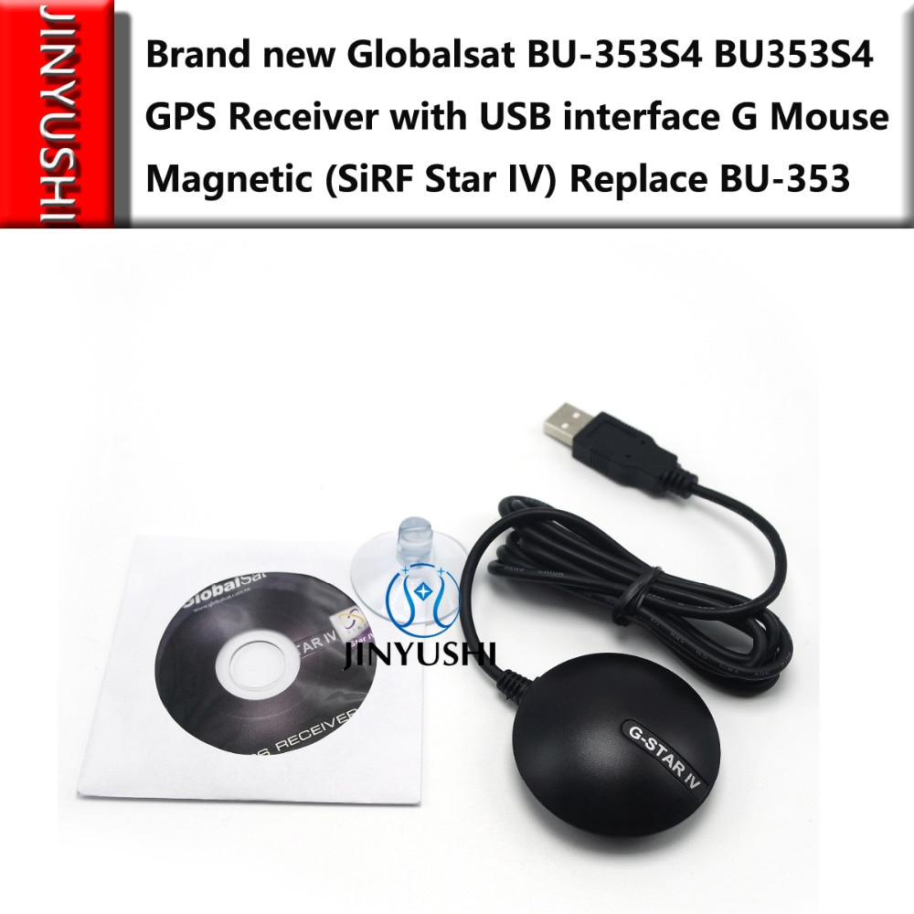 10 unids/lote dispositivo BU353S4 dispositivo BU-353S4 Cable USB GPS receptor con interfaz USB G ratón magnético (SiRF Star IV)