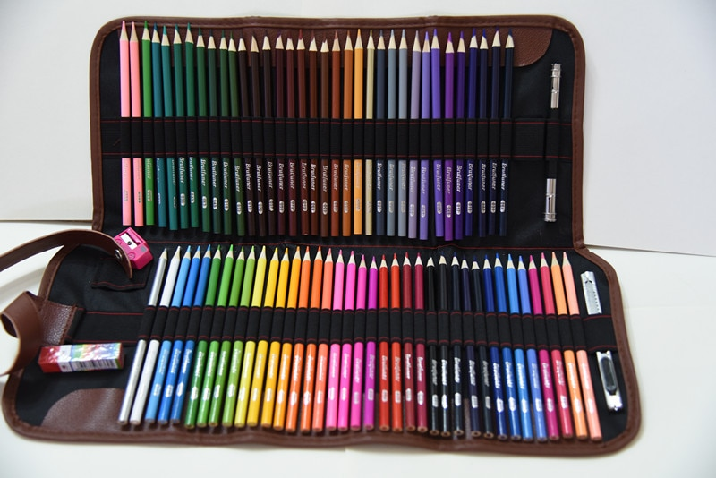 72Colors Wood Colored Pencils Set Sketching Drawing Kit Pencil Case Bags Lapis De Cor Artist Painting For School Art Supplies