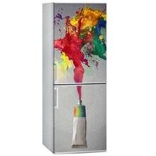 Kitchen stickers DIY colorful pigment Waterproof SelfAdhesive freeze Refrigerator Sticker Door Cover Wallpaper 60x150cm 60x180cm