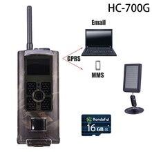 HC700G 3G GPRS Caccia Telecamera A Raggi Infrarossi di Movimento Cam Hunter Guardia Della Fauna Selvatica MMS Fotocamera Hc-700g Pannello Solare