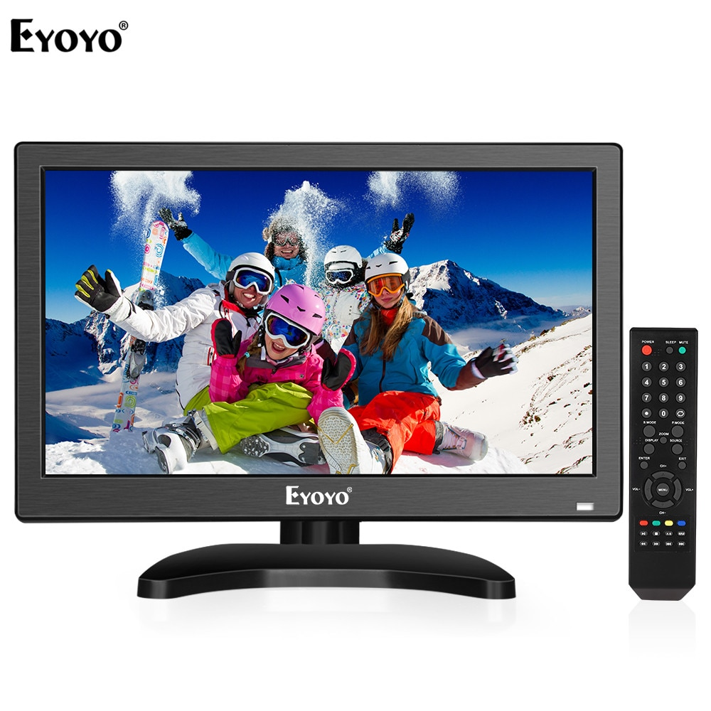 "Eyoyo em12t 12 ""1920x1080 hdmi tv monitor portátil cozinha tv ips tela lcd tv/hdmi/vga/av/entrada usb para pc cctv câmera"