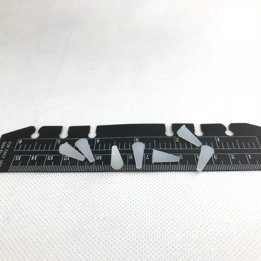 1000 Uds. Por lote tapones de tope cónico de goma de silicona de 3mm x 7,5mm x 15mm pintura de recubrimiento en polvo, color aleatorio