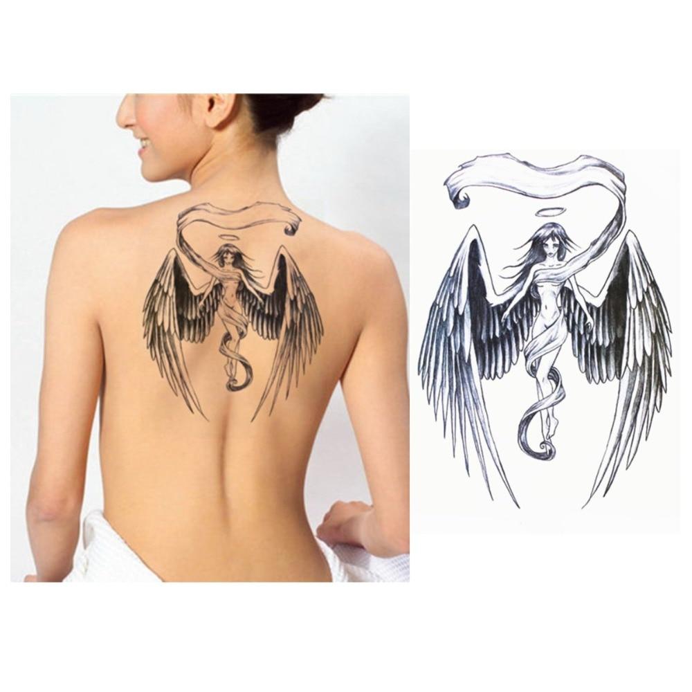 Alas de Ángel tatuaje de moda Angel tatuaje pegatinas nueva transferencia de agua tatuaje temporal a prueba de agua Calcomanía para arte corporal nuevo producto