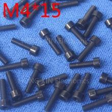 Vis à tête creuse intérieure en Nylon   M4 * 15 noir 1 pièces, boulon en plastique 15mm, Insolation du boulon en plastique, tout nouveau RoHS conforme PC/board bricolage