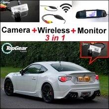 Cámara especial 3 en 1 + receptor inalámbrico + sistema de aparcamiento con Monitor de espejo para TOYOTA 86 GT FT GT86 FT86 86GT 86FT para Subaru BRZ