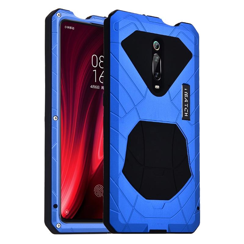 IMATCH Original para Xiaomi mi 9 9T funda de teléfono dura Alu mi num funda protectora de Metal para Red mi k20 protección resistente a golpes