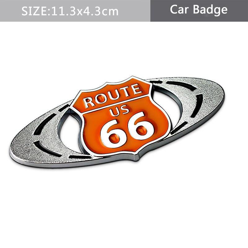 Dekoracja samochodu 3D metalowa naklejka Route US 66 droga naklejka godło dla Fiat Chrysler Toyota Camry Chevrolet Silverado nissan altima