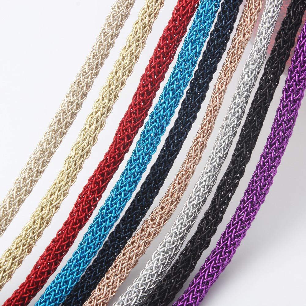 Olingart 5.5mm 10 m/lote multicolorido redondo metal macio fio/cabo/corda brincos pulseira gargantilha colar diy jóias fazendo