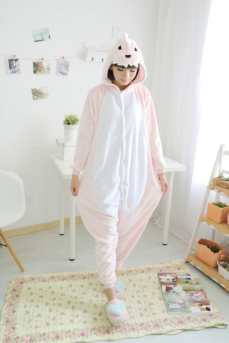 Pijamas de dinosaurio rosa, pijamas de animales, ropa de dormir, mono, disfraz de Cosplay, pijamas para adultos, ropa de fiesta
