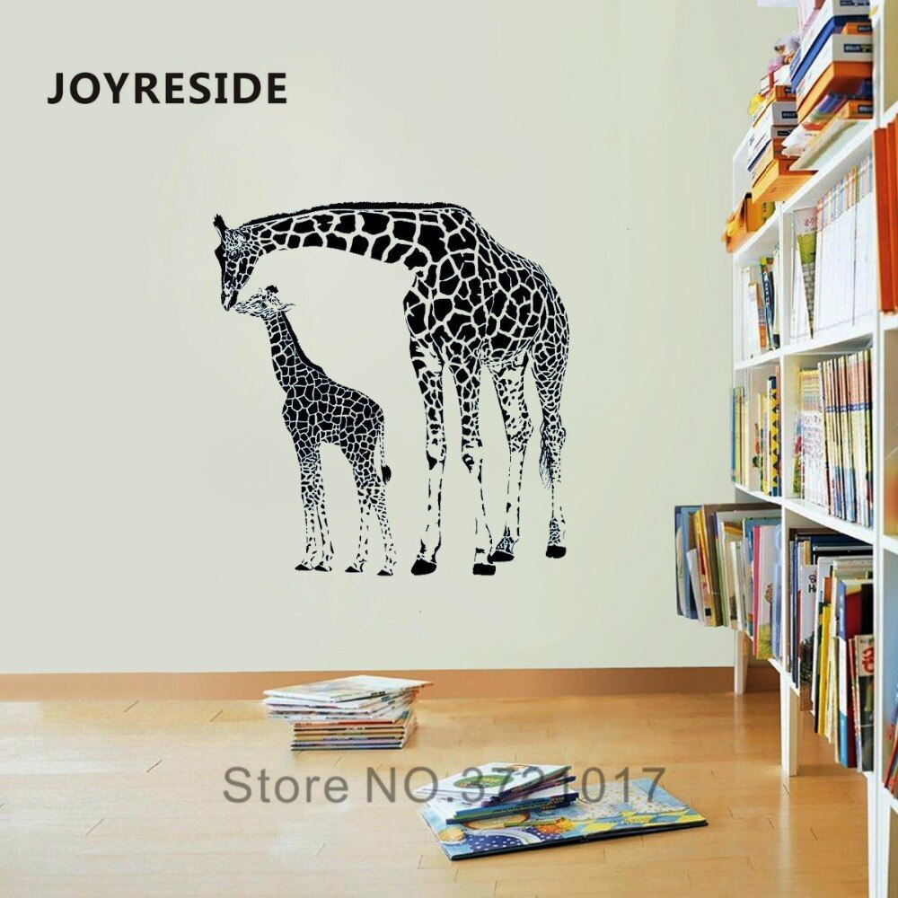 JOYRESIDE Long Neck Animal Wall Giraffe Jungle  Decal Vinyl Sticker Decor Children Room Bedroom Living Room Interior Mural A318